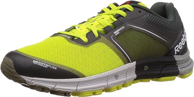 Reebok One Cushion 3.0 - Zapatillas para Hombre, Color Multicolor (Semi Solar Yellow/Modern Olive/Dark Solid Grey/Steel/garvel/Flat Grey), Talla 44.5: Amazon.es: Zapatos y complementos