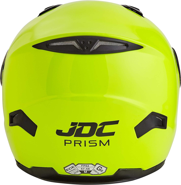 S Amarillo Fluorescente JDC Casco Integral Para Motocicleta Cascosintegrales PRISM