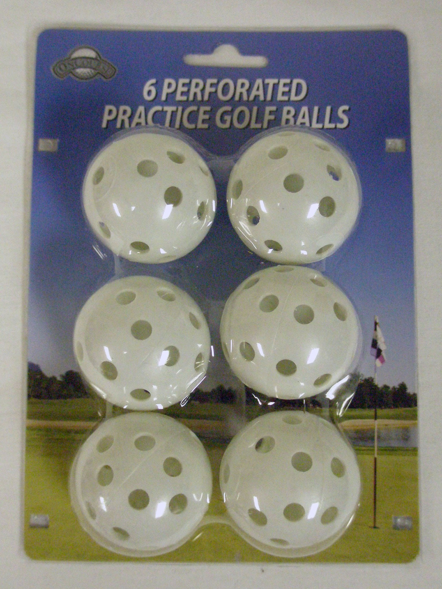 On Course Perforated Practice Golf Balls (6pk) Plastic Ball New