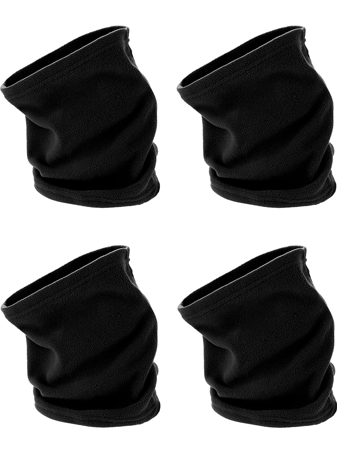 Style 2 Tatuo 4 Pieces Fleece Neck Warmer Winter Scarf Multifunctional Headgear for Windproof Dust Skiing Hiking Cycling