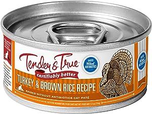 Tender & True Antibiotic-Free Turkey & Brown Rice Recipe Canned Cat Food, 5.5 oz, Case of 24