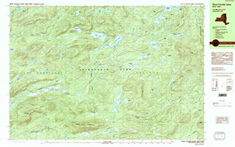 Amazon.com: YellowMaps West Canada Lakes NY topo map, 1 ...