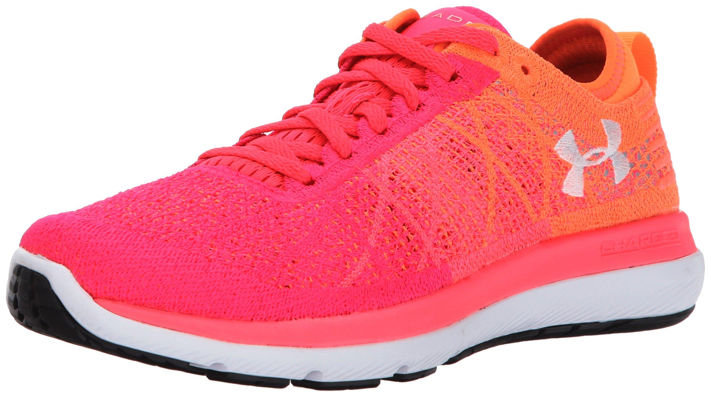 Under Armour Women's Threadborne Fortis Running Shoe, Penta Pink (600)/Magma Orange, 7