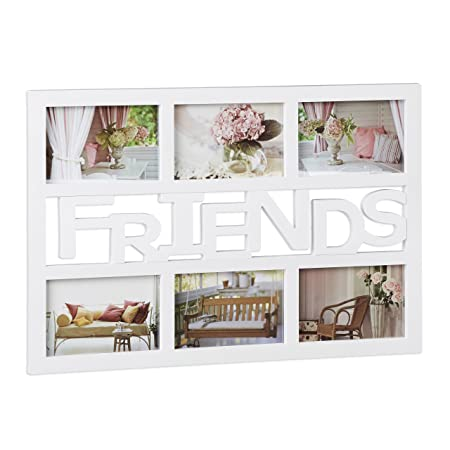 Relaxdays Friends Picture Frame, Photo Gallery for 6 Photographs ...
