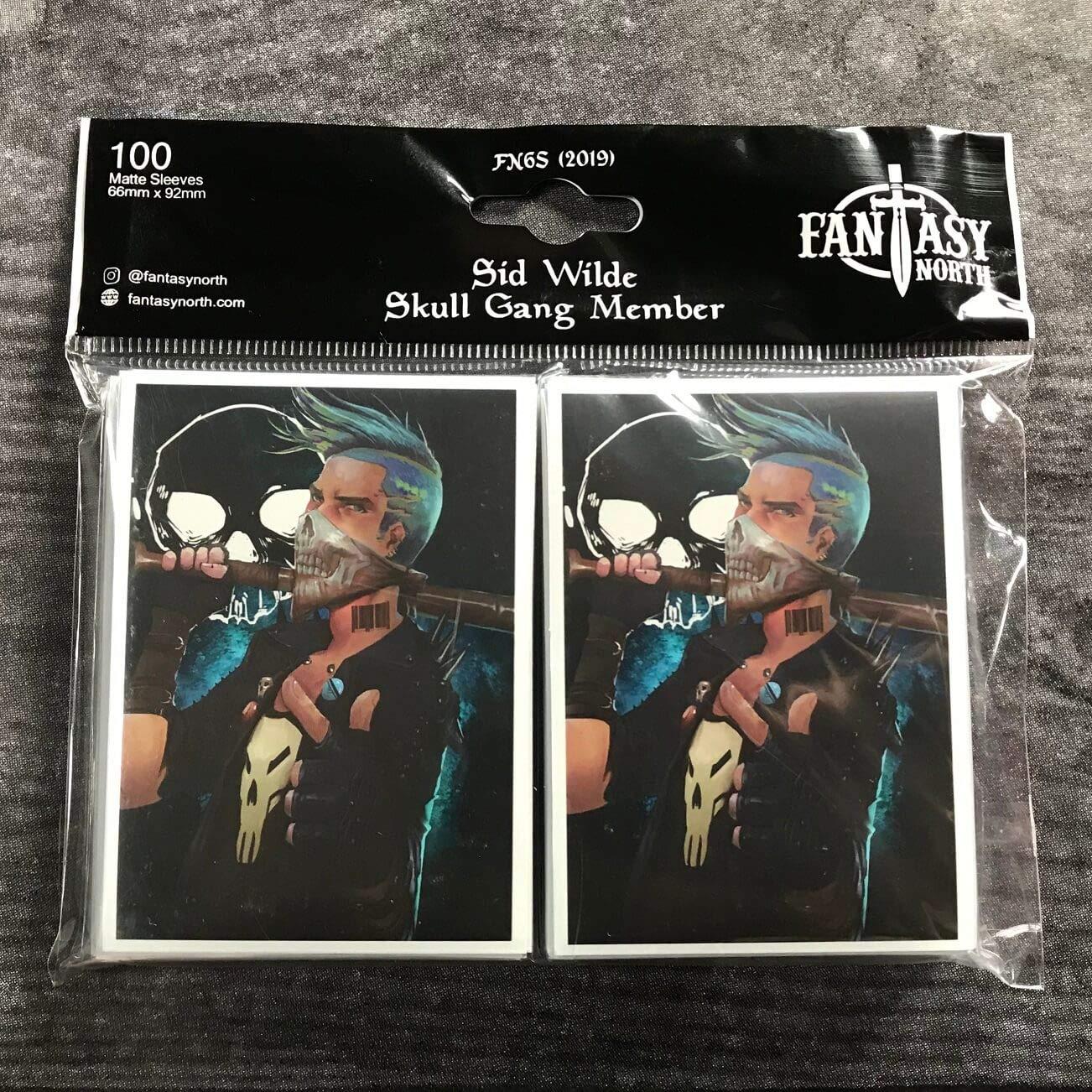 Sid Wilde 100 Matte Card Sleeves Skull Gang Member FN6S