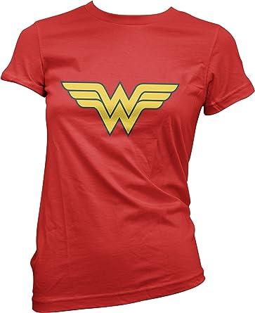 LaMAGLIERIA Camiseta Mujer Wonder Woman - Camiseta Divertida Comics 100% Algodon: Amazon.es: Ropa y accesorios