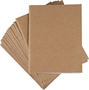 Kraft Paper Notebook, Blank Lined Journal (4.25 x 5.5 in, 24 Pack)