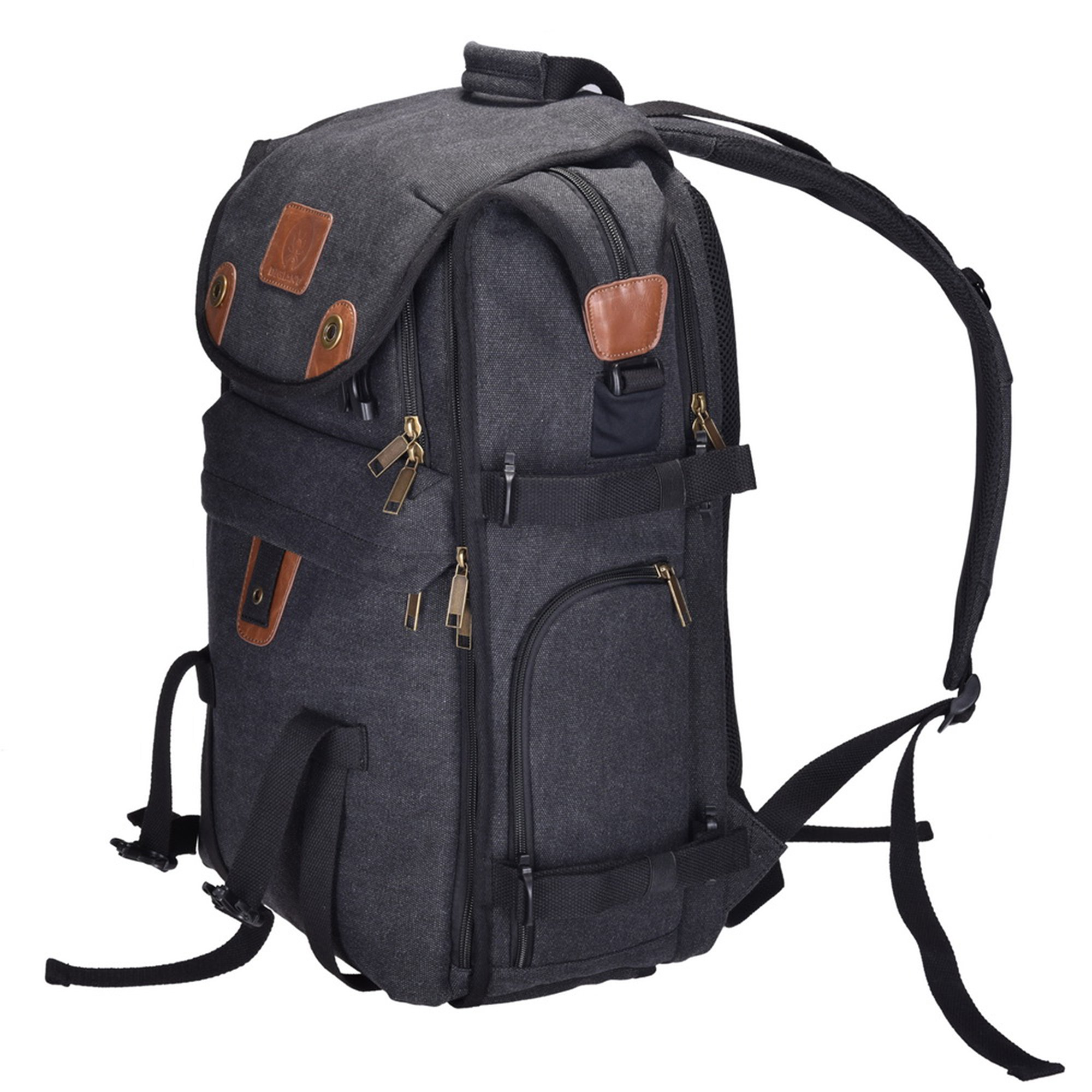 """Camera Bag, DIGIANT 21"""" x 7.8"""" x 13.5"""" DSLR Backpack Canvas Camera Case with Rain Cover, Camera Backpack Rucksack for Cameras, Lenses, Laptop/Tablet & Photography Accessories by DIGIANT"""