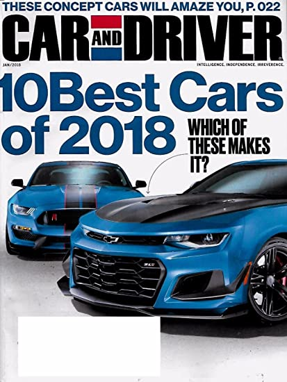 Car And Driver 10 Best >> Car And Driver Magazine January 2018 10 Best Cars Issue