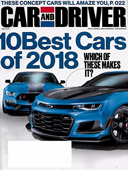Amazon.com : CAR AND DRIVER MAGAZINE JANUARY 2018-10 BEST CARS ISSUE
