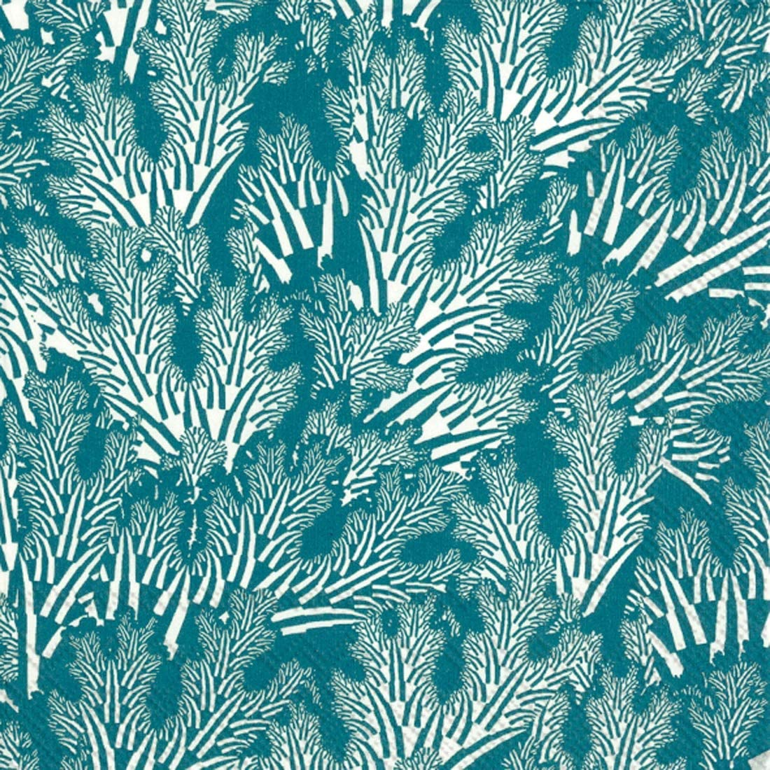 Marimekko Cocktail Napkins Decorative Paper Napkins Teal Blue Party Napkins Beverage 5
