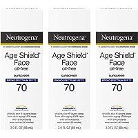 Neutrogena Age Shield Face Oil-Free Sunscreen Lotion with Broad Spectrum SPF 70, Non-Comedogenic Moisturizing Sunscreen…