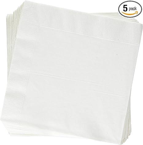 White cotton damask vintage dinner napkins  Set of 3  Corn on the cob corner design  46cm square 18 square
