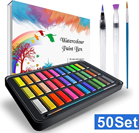 Caja de acuarelas, RATEL set de pintura de acuarelas incluye 36 ...