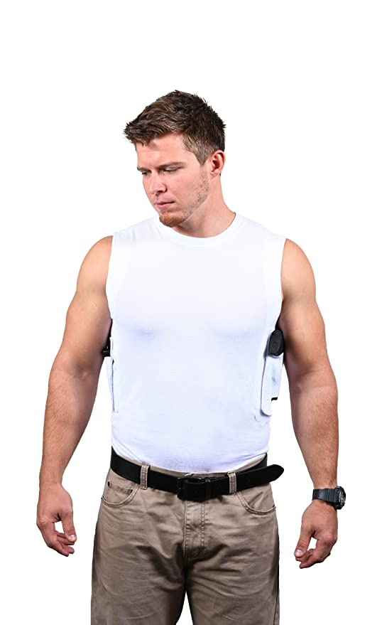a5d3760afc48bb Amazon.com  Packin  Tee Men s Crew Concealed Carry T-Shirt White X ...