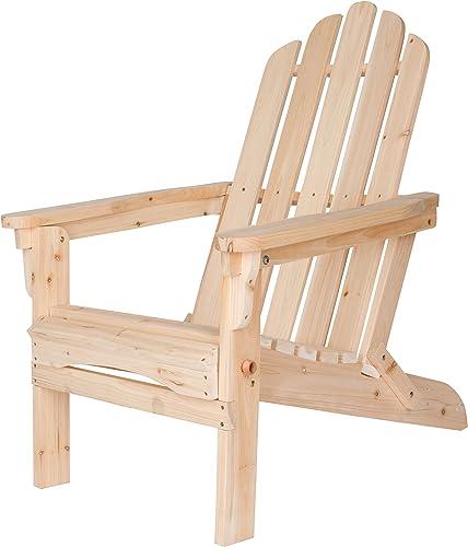Shine Company Inc. 4658N Marina Folding Adirondack Chair, Natural