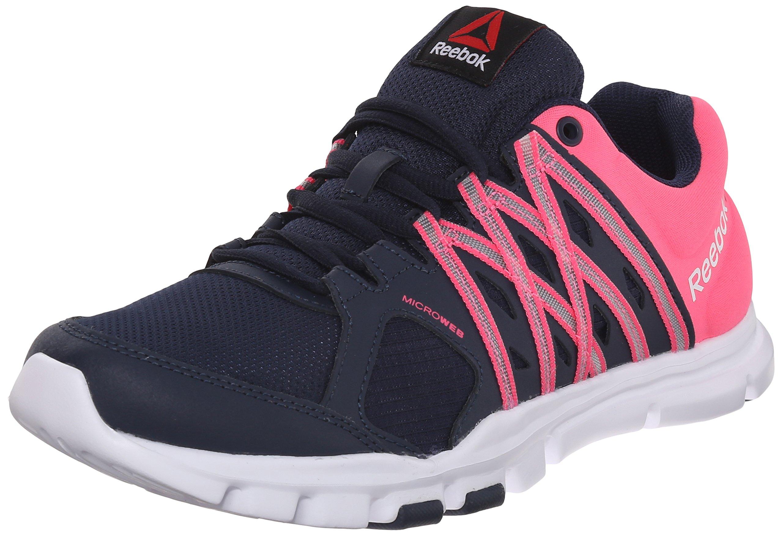 Reebok Women's Yourflex Trainette 8.0L MT Training Shoe, Collegiate Navy/Solar Pink/White, 9 M US