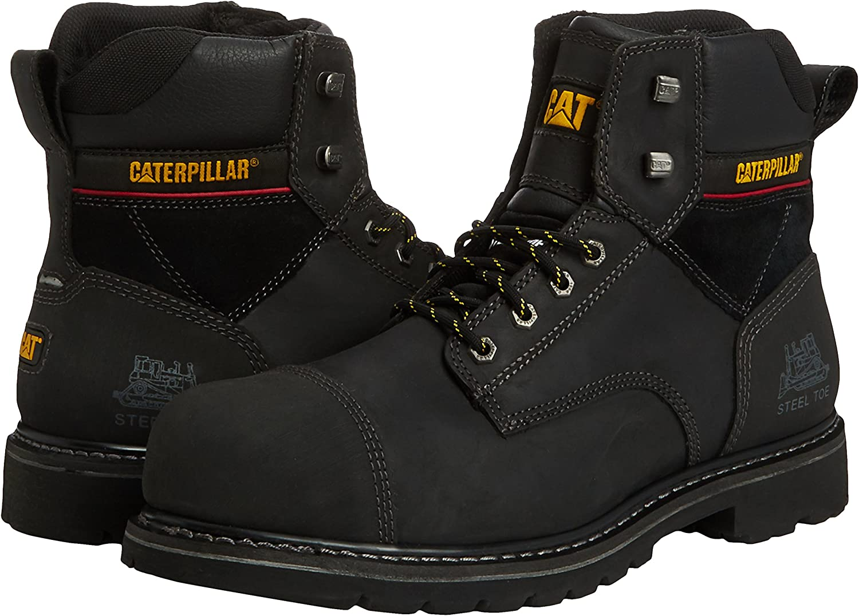 Caterpillar Traction 6 S3, Chaussures de sécurité Homme Noir (Black)