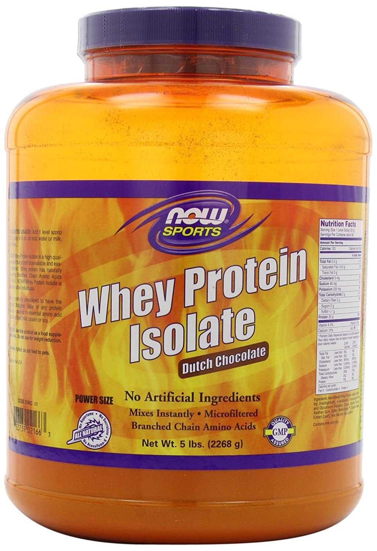 Amazon.com: NOW Sports Dutch Chocolate Whey Protein Isolate, 5 ...