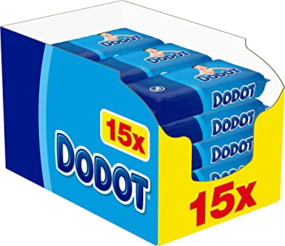 Dodot Toallitas para Bebé 15 Paquetes de 64 Unidades, 960 ...