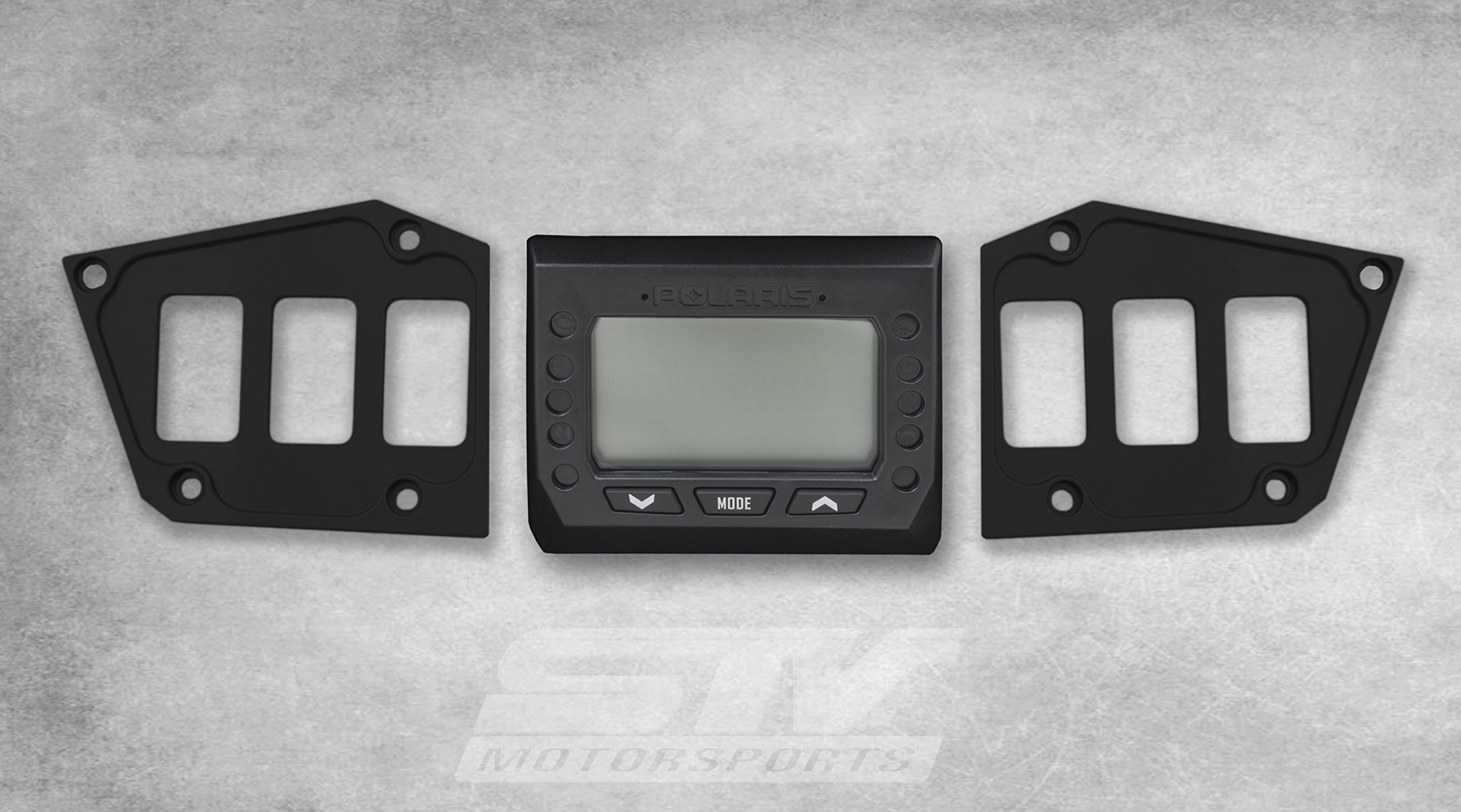 STV Motorsports Custom BLACK Aluminum Dash Panel for POLARIS RZR XP FOX EDITION with GPS DISPLAY – MADE 100% in USA (no switches included)