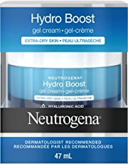 Neutrogena Hydro Boost Gel Face Cream with Hydrating Hyaluronic Acid for Extra Dry Skin, Fragrance Free, 47 mL