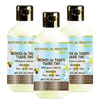 MONOI de TAHITI TIARE TIKI OIL 100% Natural / 100% PURE BOTANICALS. 2 Fl.oz.- 60...