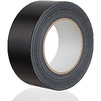 MAXKO cinta americana, fuerte, negra, 50 m x