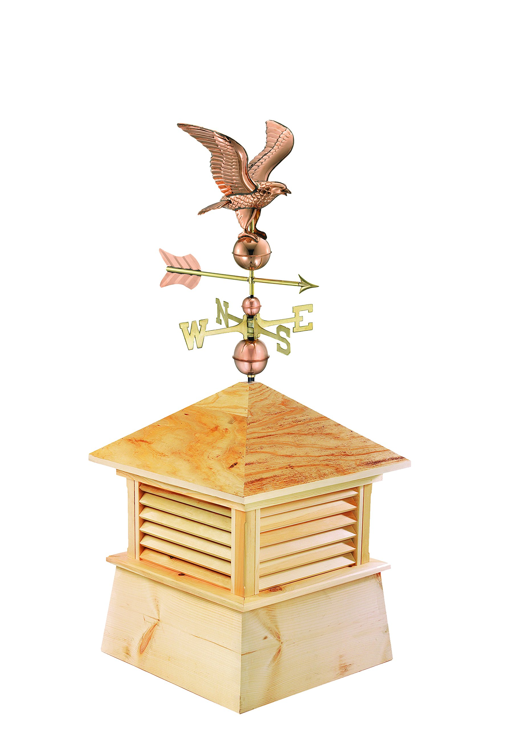 Good Directions 30'' Square Kent Wood Cupola with Standard American Eagle