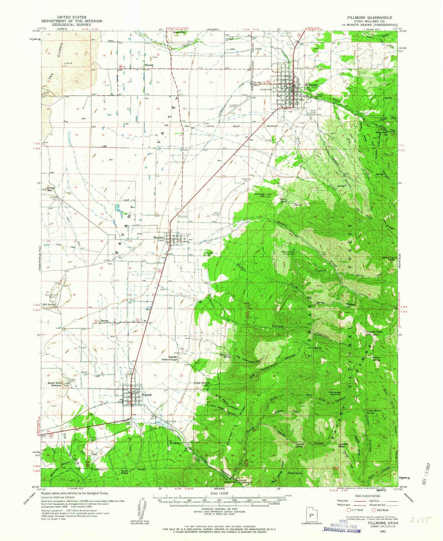 Amazon Com Yellowmaps Fillmore Ut Topo Map 1 62500 Scale 15 X 15