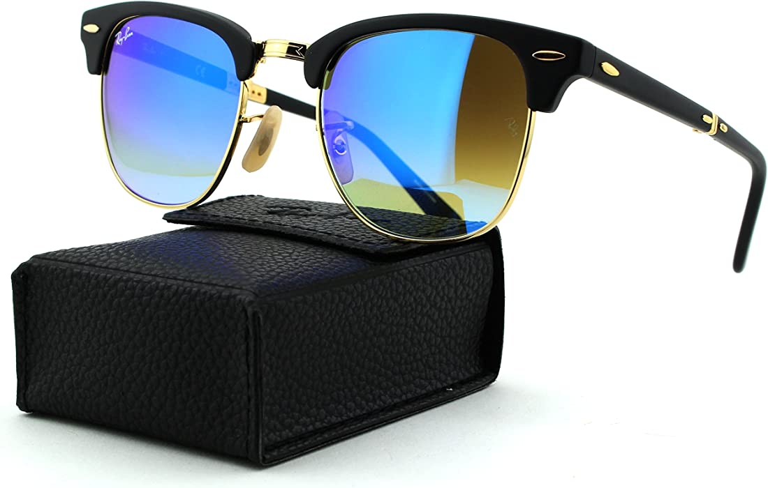 743953cf4d Ray-Ban RB2176 CLUBMASTER FOLDING Gradient Unisex Sunglasses (Matte Black  Frame