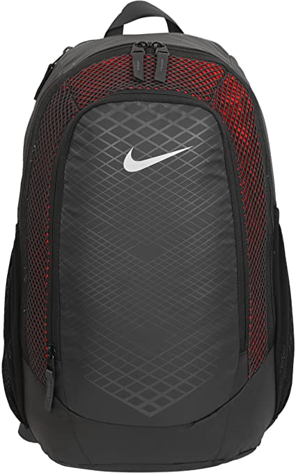 Nike 25 Ltrs Anthracite Habanero Red Metallic Silver Laptop Backpack ... 7ddaa94f0f190