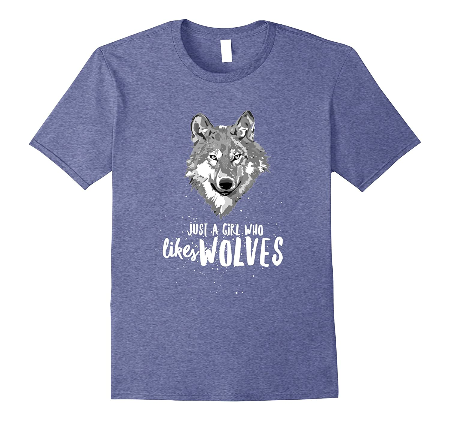 Just A Girl Who LIkes Wolves - Cute Wolf Shirt-AZP