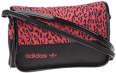 sac adidas en bandoulière noir et rose