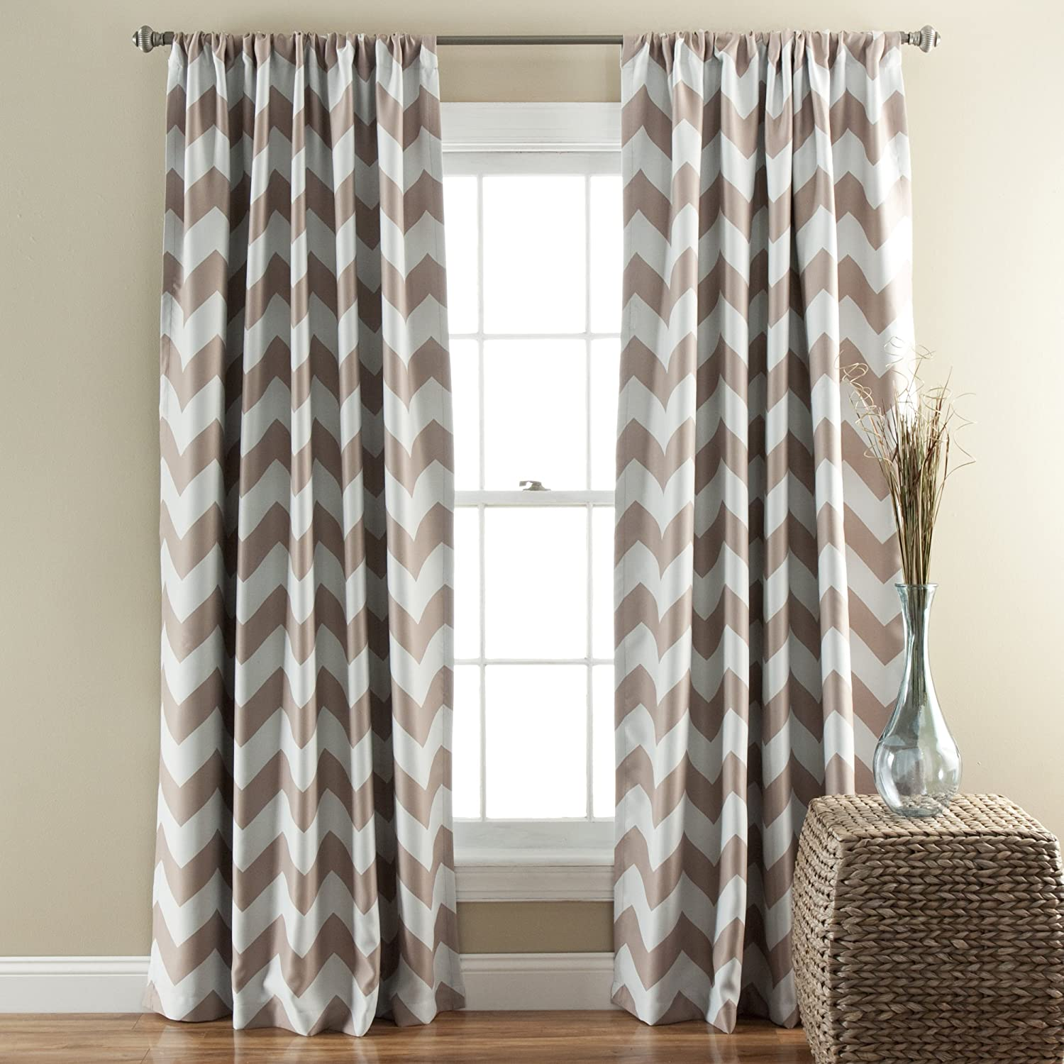 Yellow And White Chevron Blackout Curtains Curtain Menzilperde Net