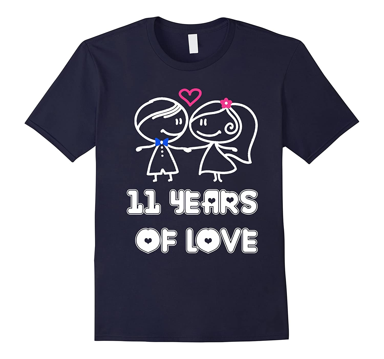 11 Years Of Love Shirt - Wedding Anniversary Gifts By Year-RT