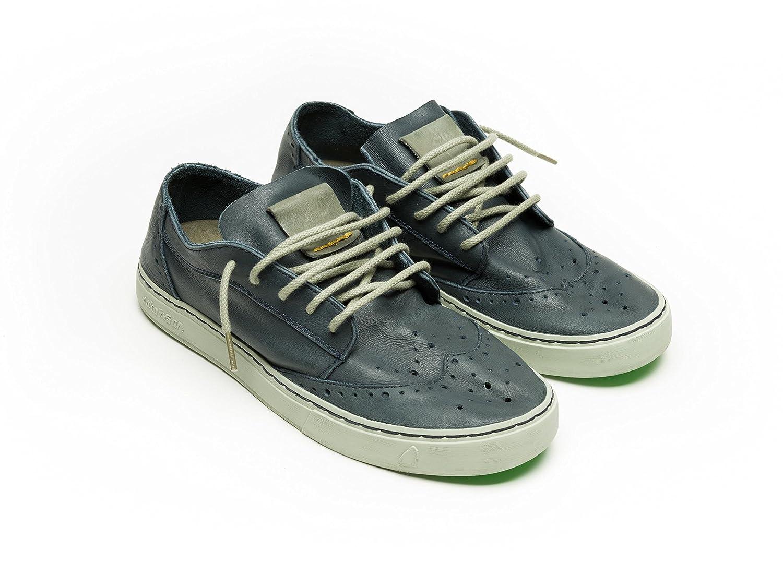 SATORISAN scarpe SNEAKER UOMO YUKAI P208 U NAPA MOOD BLUE PE17 44