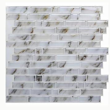 Amazoncom Vamos Tile Calacatta Gold Peel And Stick Tile Backsplash