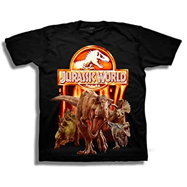 Jurassic World Big Boys 2 Lava Logo Short Sleeve T Shirt Black