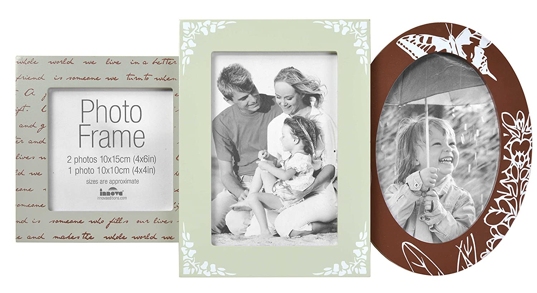 Innova Editions Madeira antique marco múltiple para fotos, Resina sintética, Madeira, II: Amazon.es: Hogar