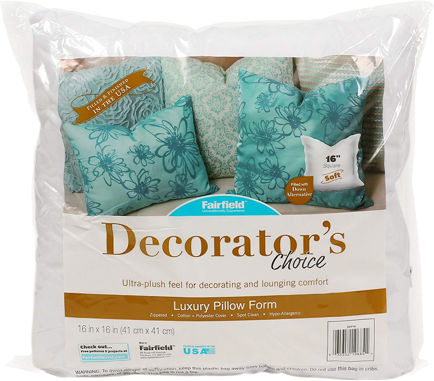 Fairfield Decorators Choice Pillow 16in x 16in