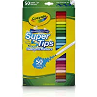 SuperTips Markers, 50 Colours, Washable, pens, Colouring, Fun, Gifts, Education, Project, booklist, Classroom, School, Non Toxic