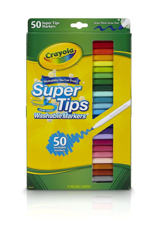 Crayola Super Tips Washable Markers: Amazon.es: Juguetes y juegos