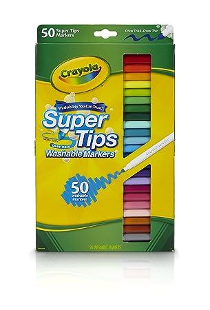 crayola 50 washable supertips amazon co uk toys games