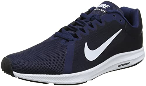 Downshifter 8, Zapatillas de Entrenamiento para Hombre, Azul (Midnight Navy/White-Dark Obsidian-Black 400), 42.5 EU Nike