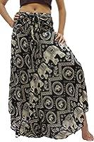 Bangkokpants Women's Long Hippie Skirts Elephant US Size 0-12