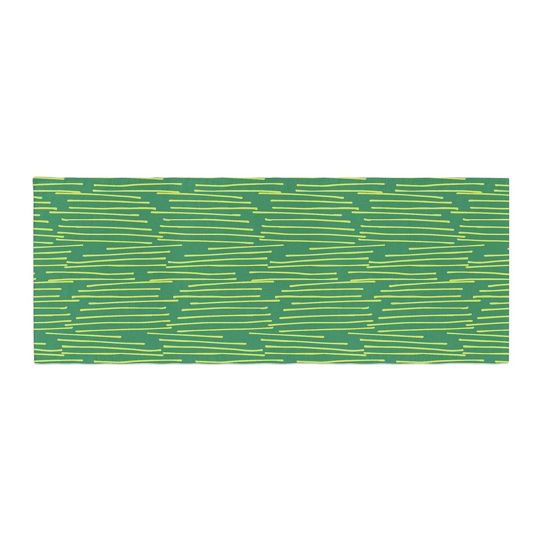 Kess InHouse Holly Helgeson Twiggy Green Line Bed Runner