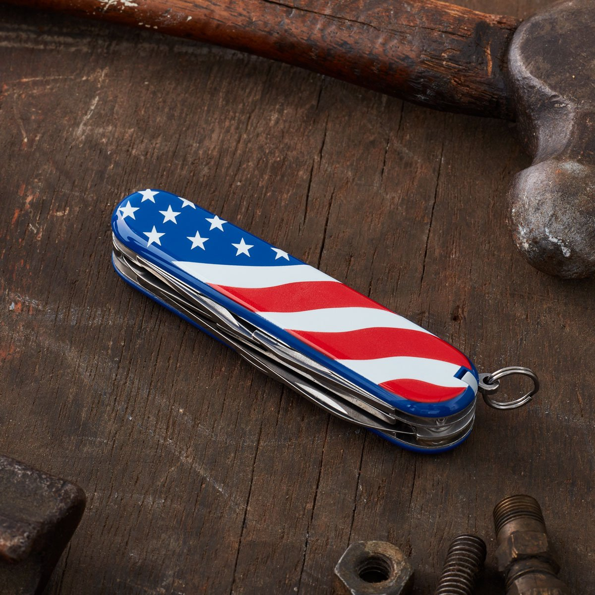 Victorinox Swiss Army Super Tinker Pocket Knife, American Flag,91mm