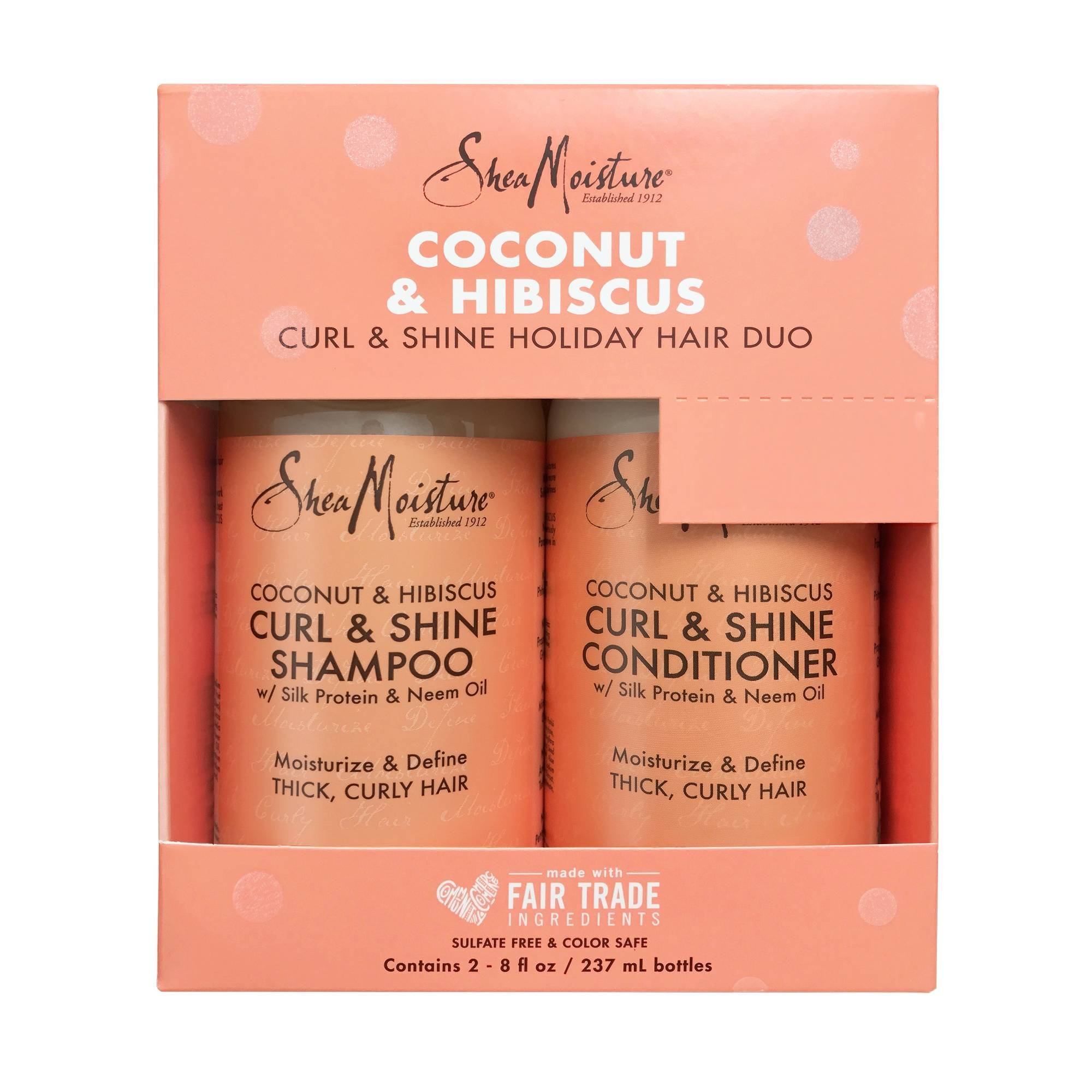 SheaMoisture Coconut & Hibiscus Shampoo & Conditioner Holiday Kit , pack of 1 by Shea Moisture