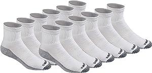Dickies Men's Dri-tech Moisture Control Quarter Socks Multipack